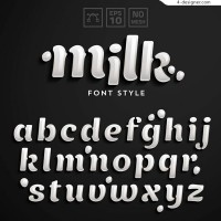 Milk white art word