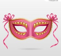 Pink mask vector