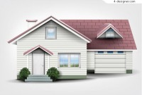 Private house design vector