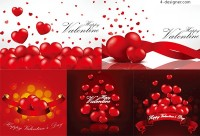 Red Heart Valentine s Day vector