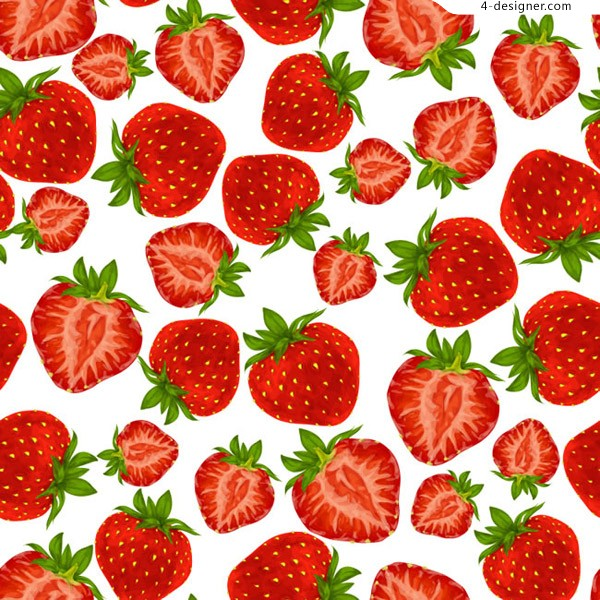 Red strawberry seamless background