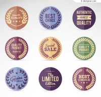 Retro round promotional labels