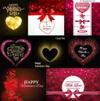 Romantic heart shaped elements