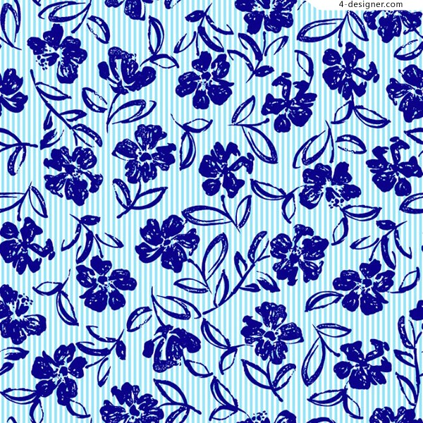 Seamless background of blue flowers