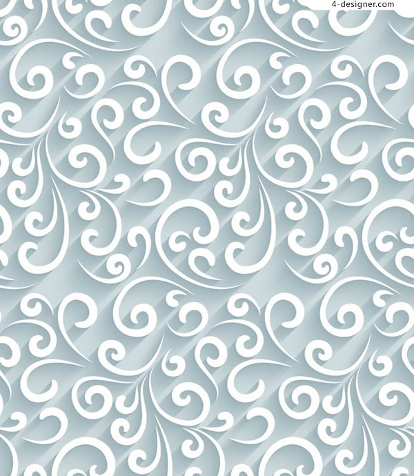 Seamless background of curling pattern