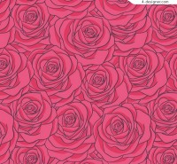 Seamless background of roses
