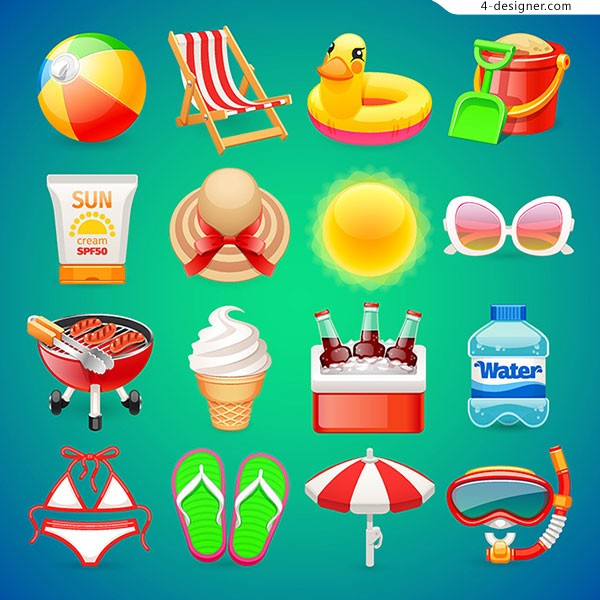 Summer Theme icon vector