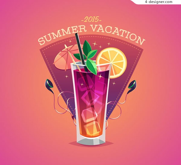 Summer cocktail Poster