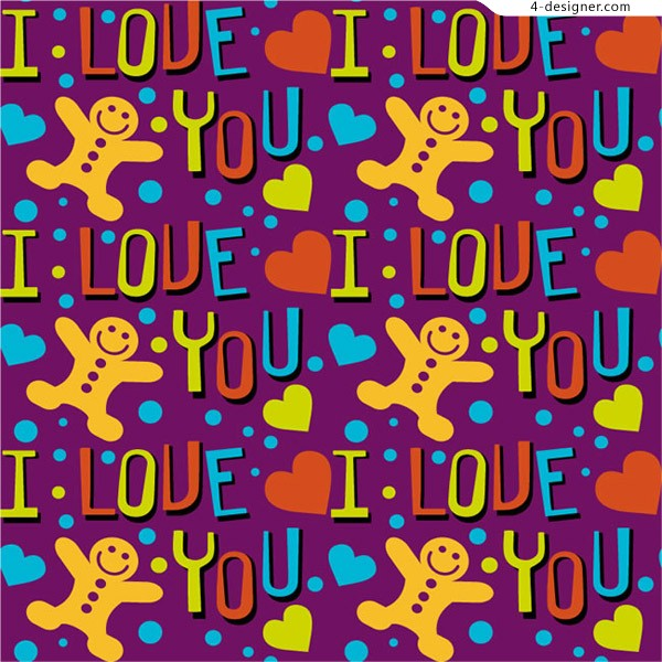The background of love and gingerbread man