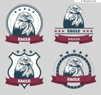 The bald eagle label vector