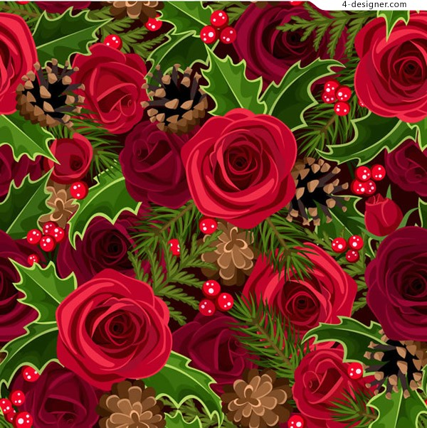 The red rose and holly