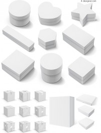 Three dimensional blank packing box