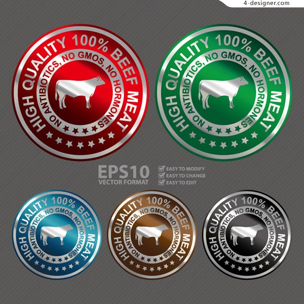 Trademark vector for beef products