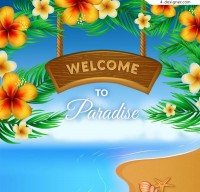 Tropical flower holiday Poster