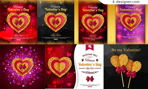 Valentine s Day heart shaped greeting card