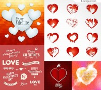 Valentine s heart shaped elements