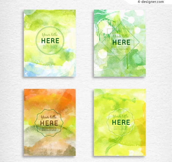Water color print flyer vector