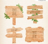 Water painted wooden vector