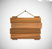 Wooden listing vector