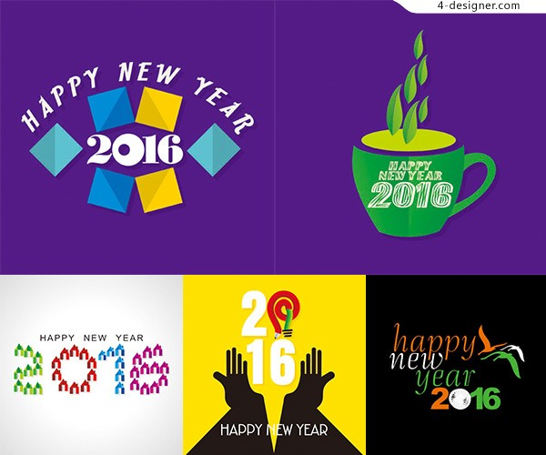 2016 monkey year creative design
