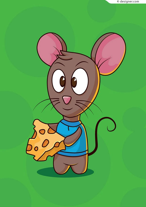 A mouse eating cheese