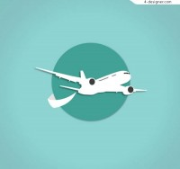 Aircraft clip drawing vector