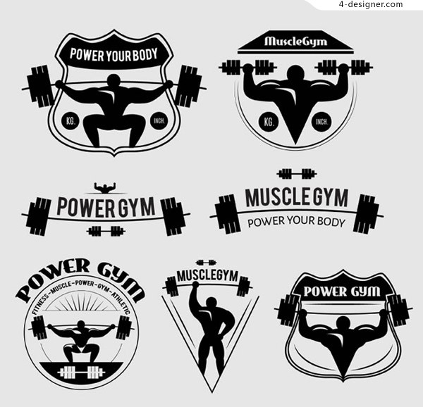 Black fitness element tags