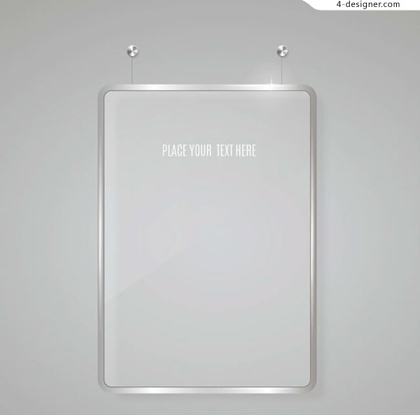 Blank glass billboard