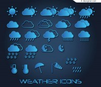 Blue weather icon