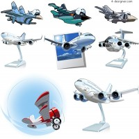 Cartoon aircraft vector