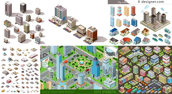 Cartoon architecture design vector