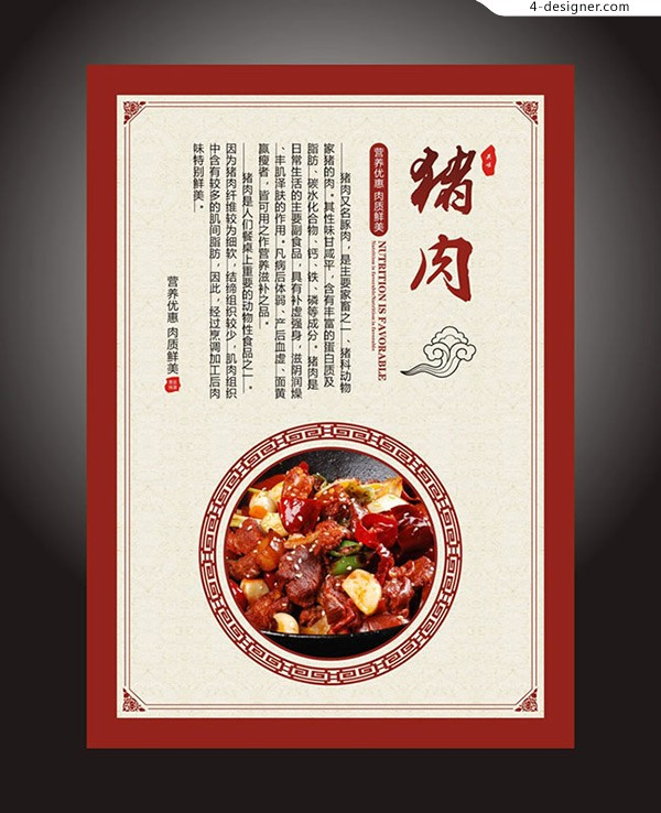 Chinese pork Poster