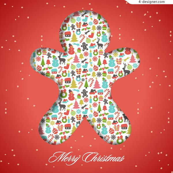 Christmas Gingerbread Man Icon