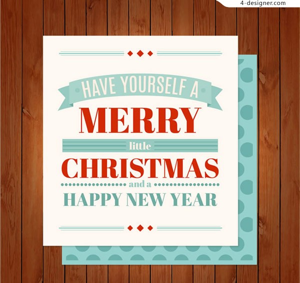Christmas New Year card