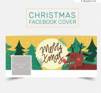 Christmas Reindeer face book cover