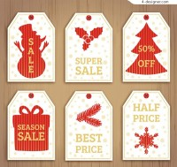 Christmas discount tag