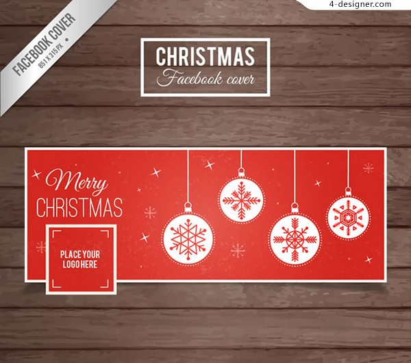 Christmas face book cover
