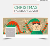 Christmas fairy face book cover