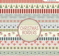 Christmas lace strip vector