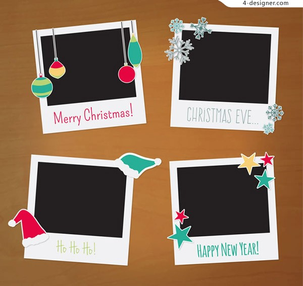 Christmas picture frame vector