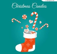 Christmas stockings and candy