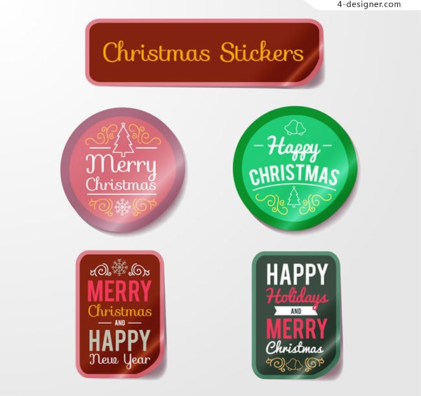 Color CHRISTMAS Stickers