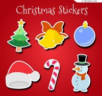 Color CHRISTMAS Stickers vector
