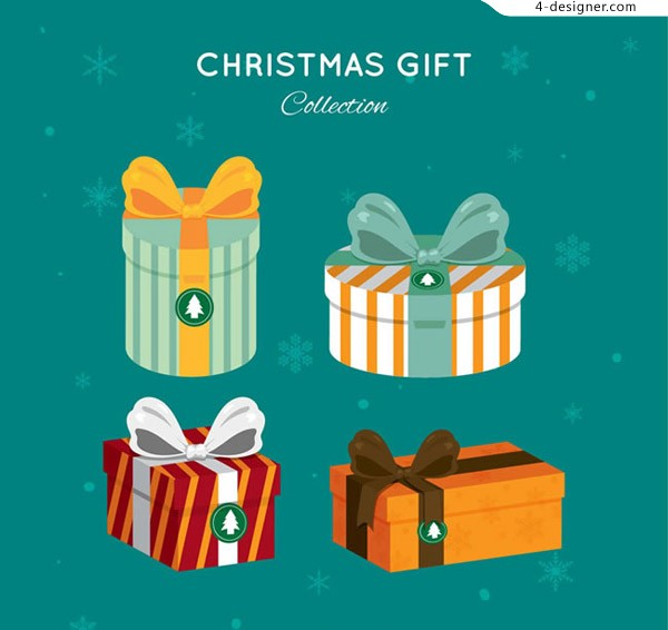Color christmas gift vector