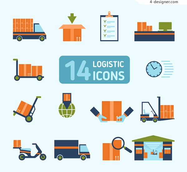 Color logistics Icon