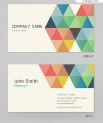 Color personality square card