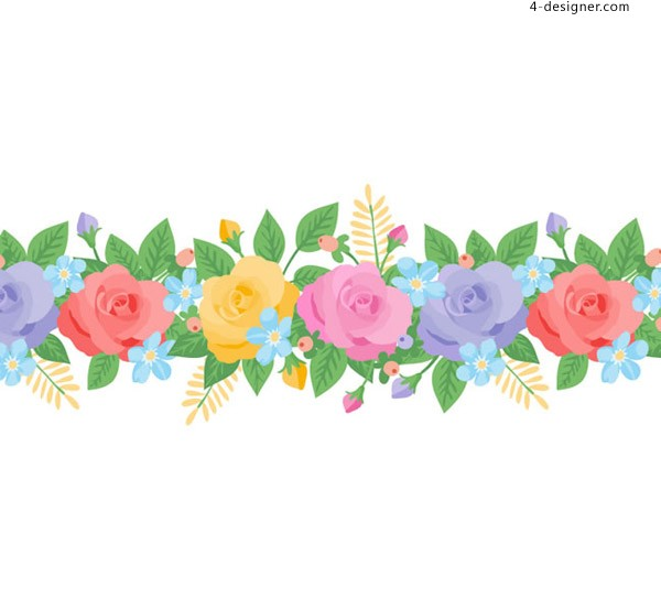 Color rose vector