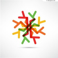 Color snowflake vector