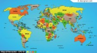 Color vector world map