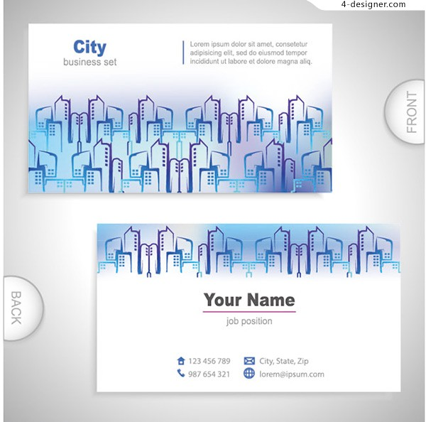 Concise city card